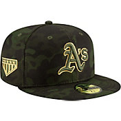 New Era Men's Oakland Athletics 59Fifty Armed Forces Fitted Hat