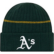 New Era Men's Oakland Athletics Green Sports Knit Hat