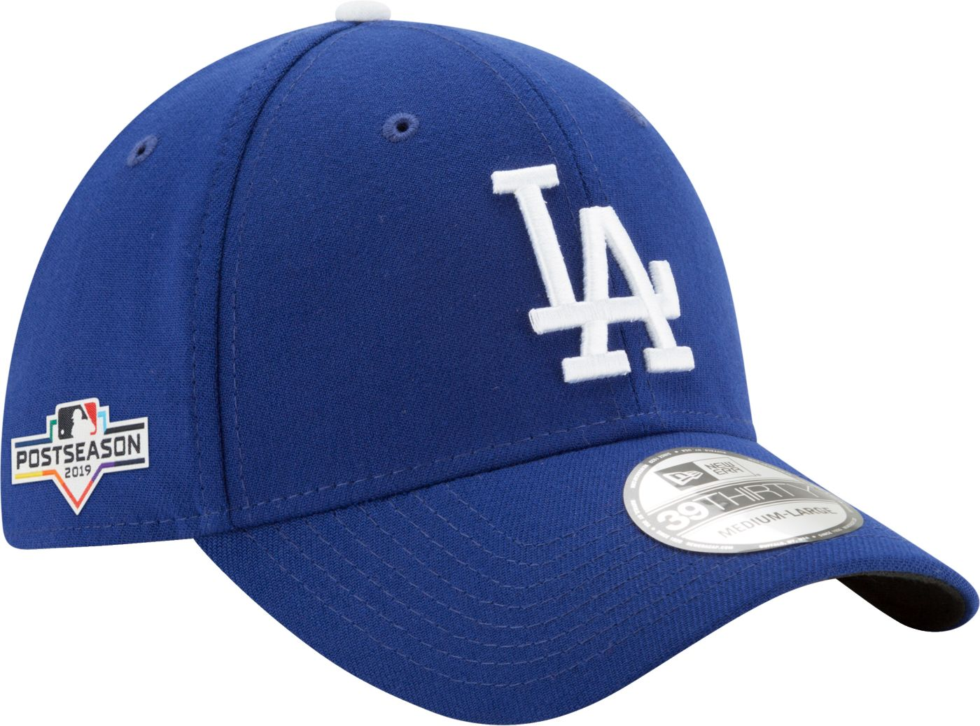 New Era Men's Los Angeles Dodgers 39Thirty 2019 MLB Postseason Stretch Fit Hat