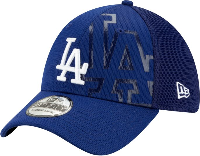 new release official photos multiple colors New Era Men's Los Angeles Dodgers Royal 39Thirty Tonel Neo Stretch ...
