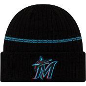 New Era Men's Miami Marlins Black Sports Knit Hat