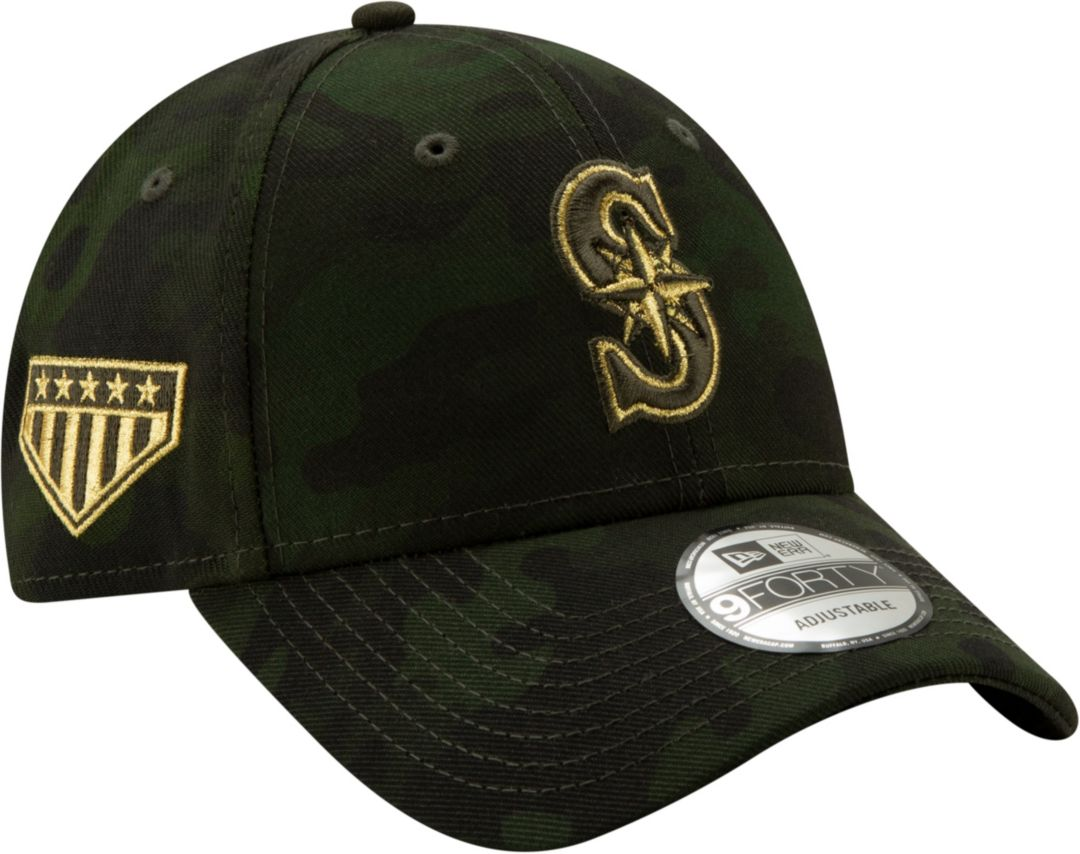 big sale 7e76b 271cf New Era Men s Seattle Mariners 9Forty Armed Forces Adjustable Hat 1