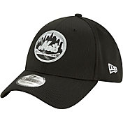 New Era Men's New York Mets BLack 39Thirty Clubhouse Stretch Fit Hat