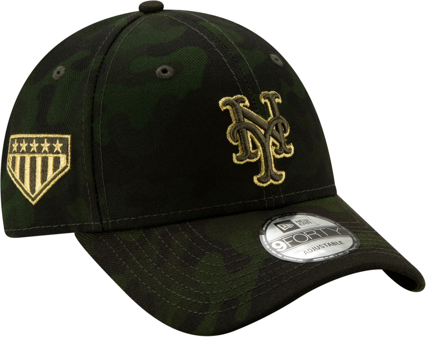 New Era Men's New York Mets 9Forty Armed Forces Adjustable Hat