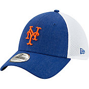 New Era Men's New York Mets Blue 39Thirty Heather Neo Stretch Fit Hat