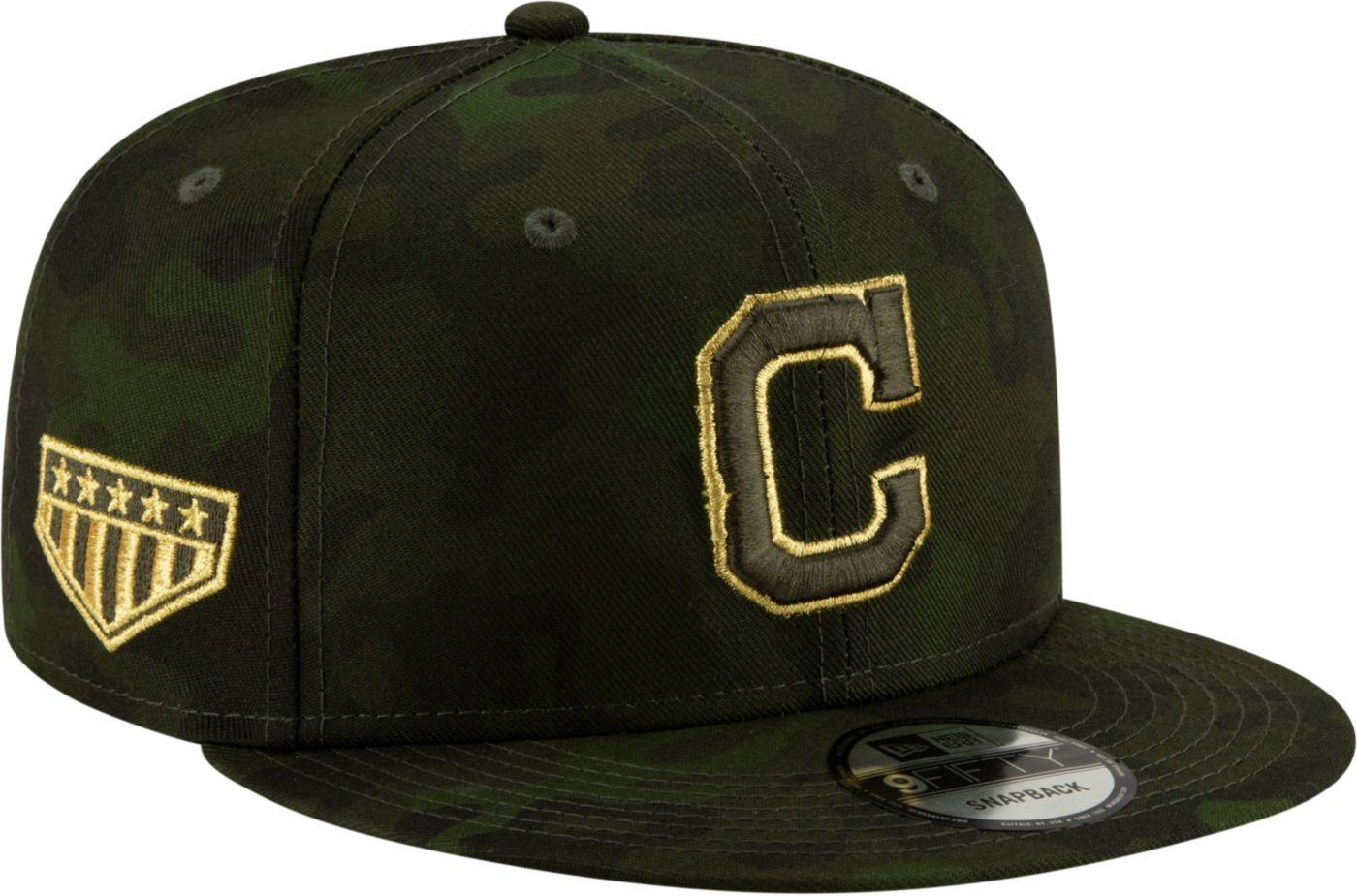 New Era Men's Cleveland Indians 9Fifty Armed Forces Adjustable Snapback Hat