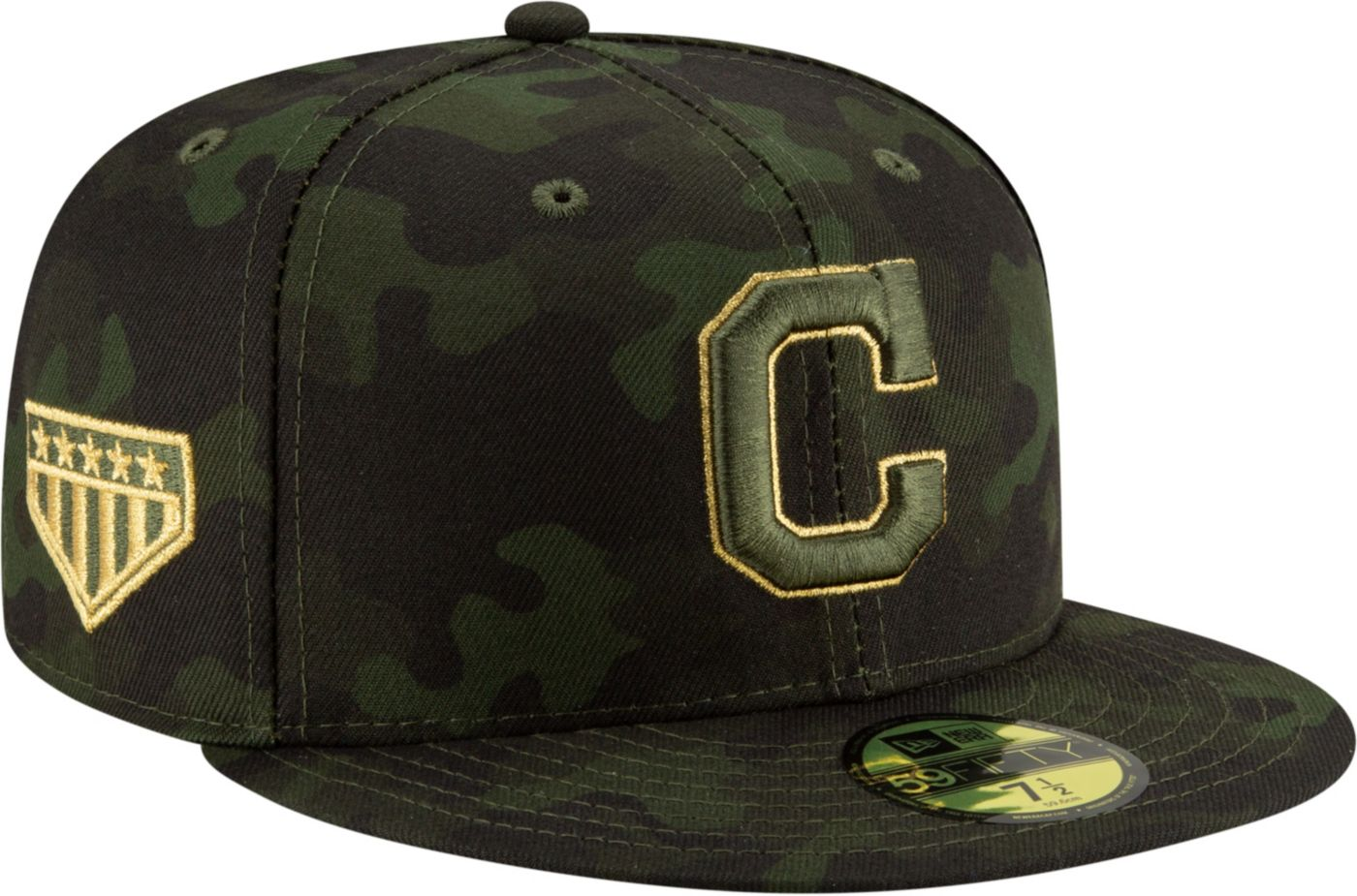 New Era Men's Cleveland Indians 59Fifty Armed Forces Fitted Hat