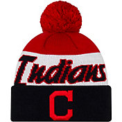 New Era Men's Cleveland Indians Script Knit Hat