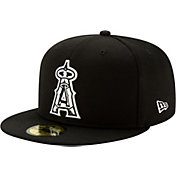 New Era Men's Los Angeles Angels 59Fifty Black Batting Practice Fitted Hat