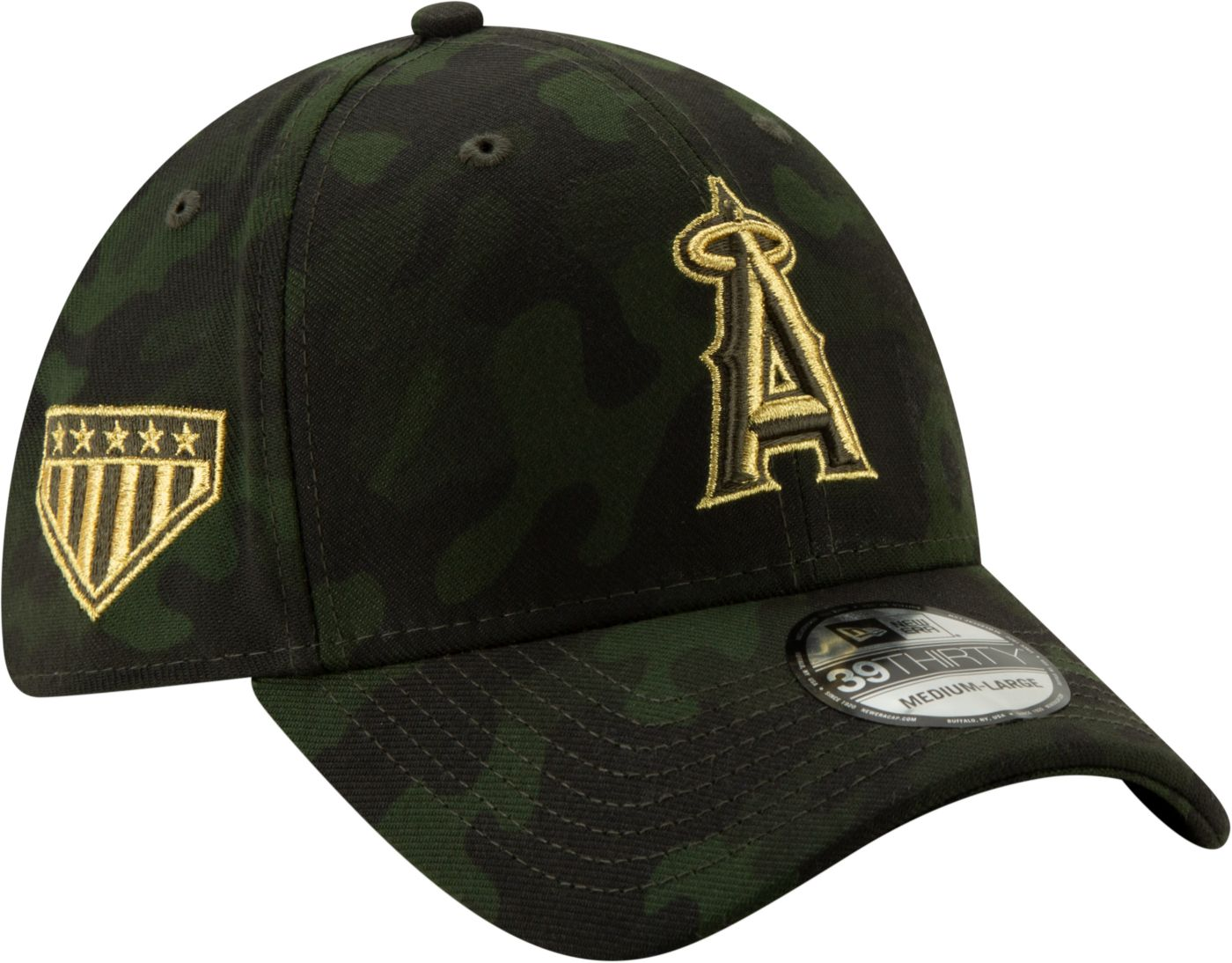 New Era Men's Los Angeles Angels 39Thirty Armed Forces Stretch Fit Hat