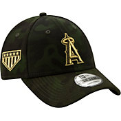 19eebf714aaf87 Product Image · New Era Men's Los Angeles Angels 9Forty Armed Forces  Adjustable Hat