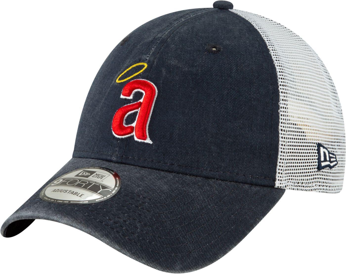 New Era Men's Los Angeles Angels 9Forty Cooperstown Trucker Adjustable Hat