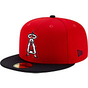 New Era Men's Los Angeles Angels 59Fifty Red Batting Practice Fitted Hat