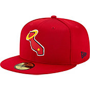 New Era Men's Los Angeles Angels Red 59Fifty Clubhouse Fitted Hat