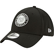 New Era Men's Washington Nationals Black 39Thirty Clubhouse Stretch Fit Hat