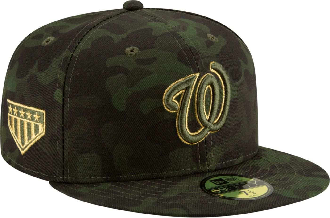 New Era Men's Washington Nationals 59Fifty Armed Forces Fitted Hat