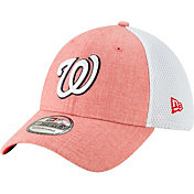 New Era Men's Washington Nationals Gray 39Thirty Heather Neo Stretch Fit Hat