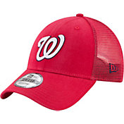 New Era Men's Washington Nationals 9Forty Red Trucker Adjustable Hat