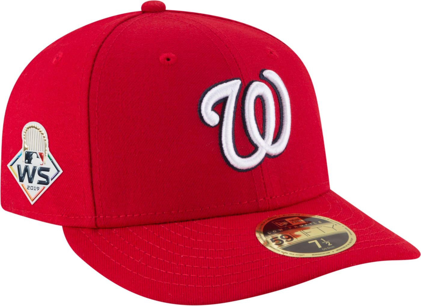 New Era Men's 2019 World Series 59Fifty Washington Nationals Authentic Low Crown Fitted Hat