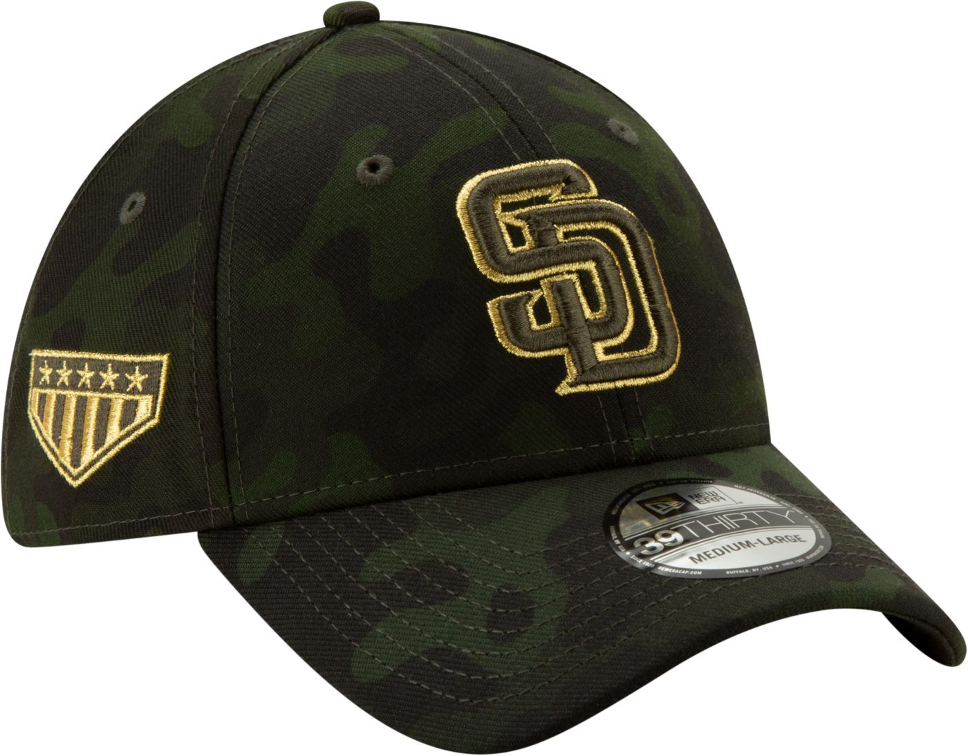 New Era Men's San Diego Padres 39Thirty Armed Forces Stretch Fit Hat