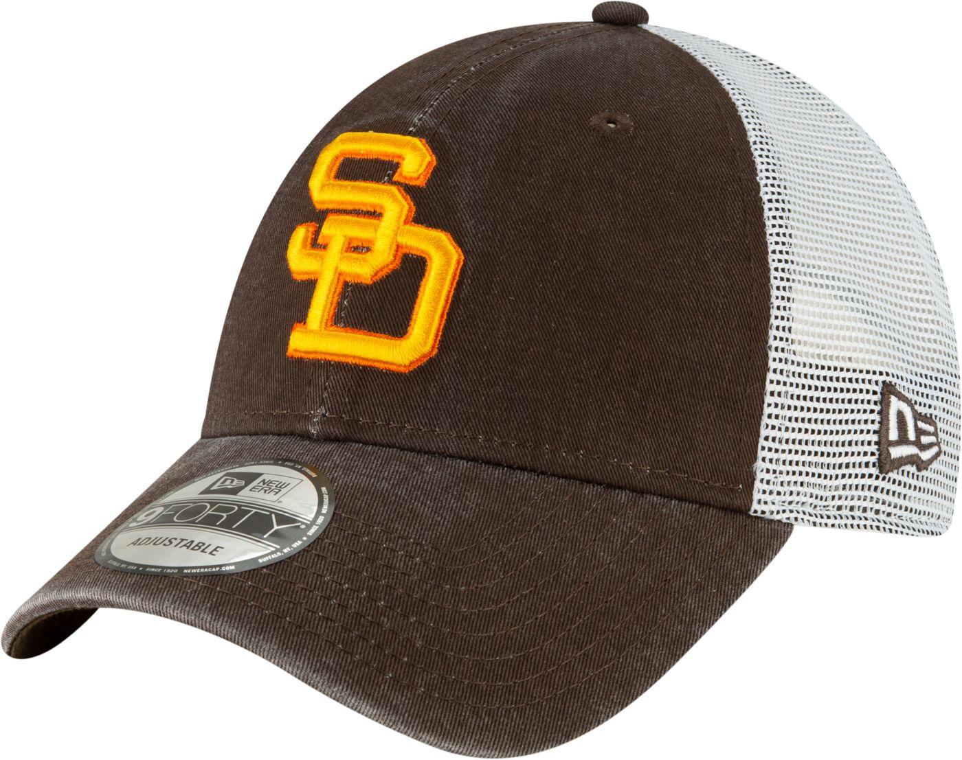 New Era Men's San Diego Padres 9Forty Cooperstown Trucker Adjustable Hat