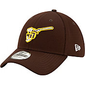 New Era Men's San Diego Padres 39Thirty Brown Batting Practice Stretch Fit Hat
