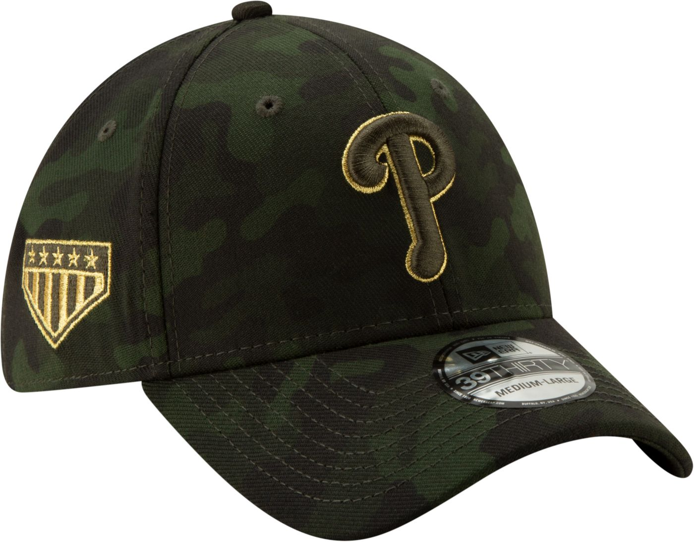 New Era Men's Philadelphia Phillies 39Thirty Armed Forces Stretch Fit Hat
