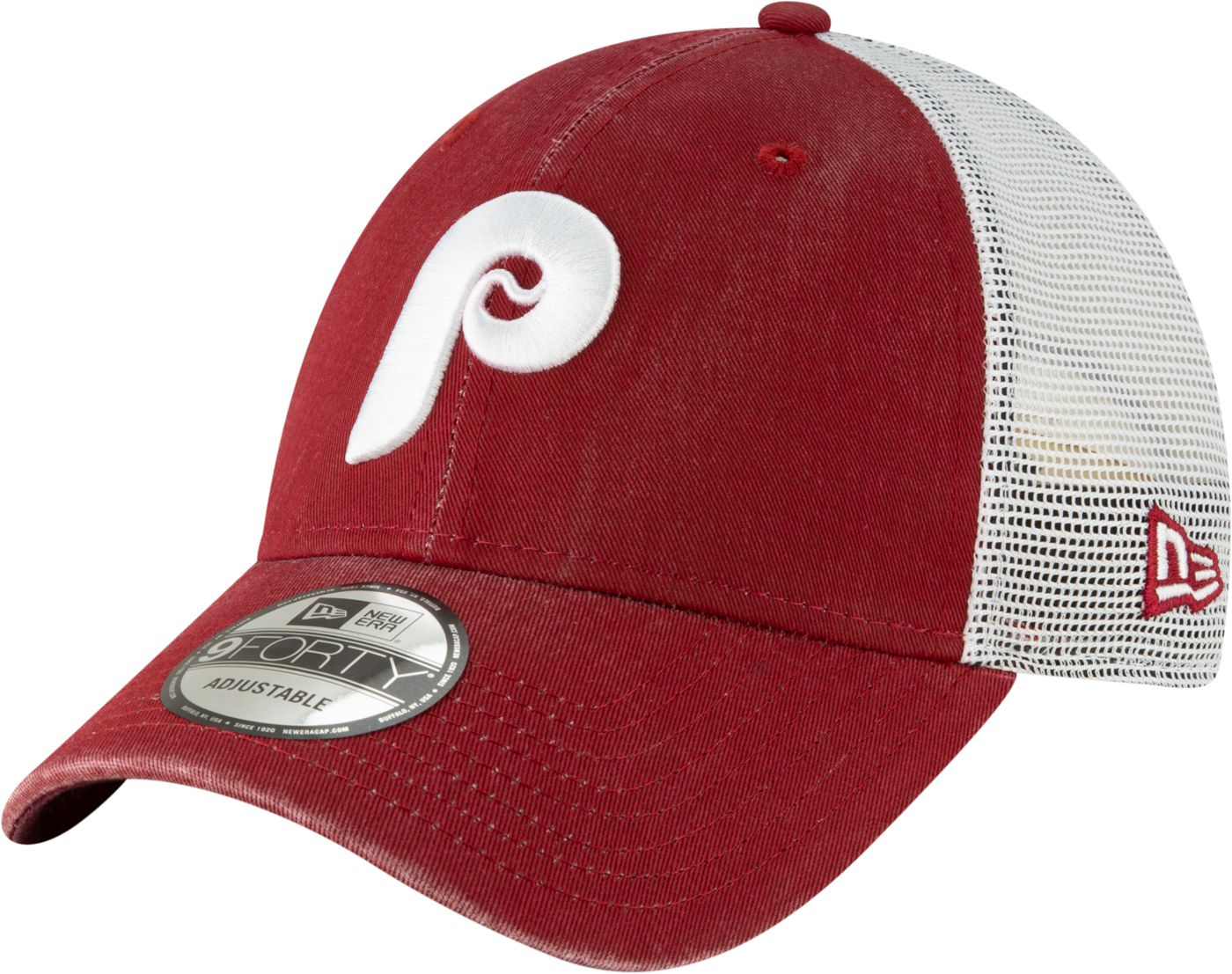 New Era Men's Philadelphia Phillies 9Forty Cooperstown Trucker Adjustable Hat