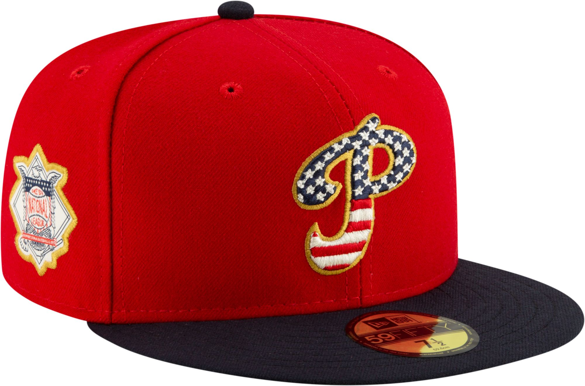 1e1e9846bcb228 New Era Men's Philadelphia Phillies 59Fifty 2019 4th of July Fitted ...