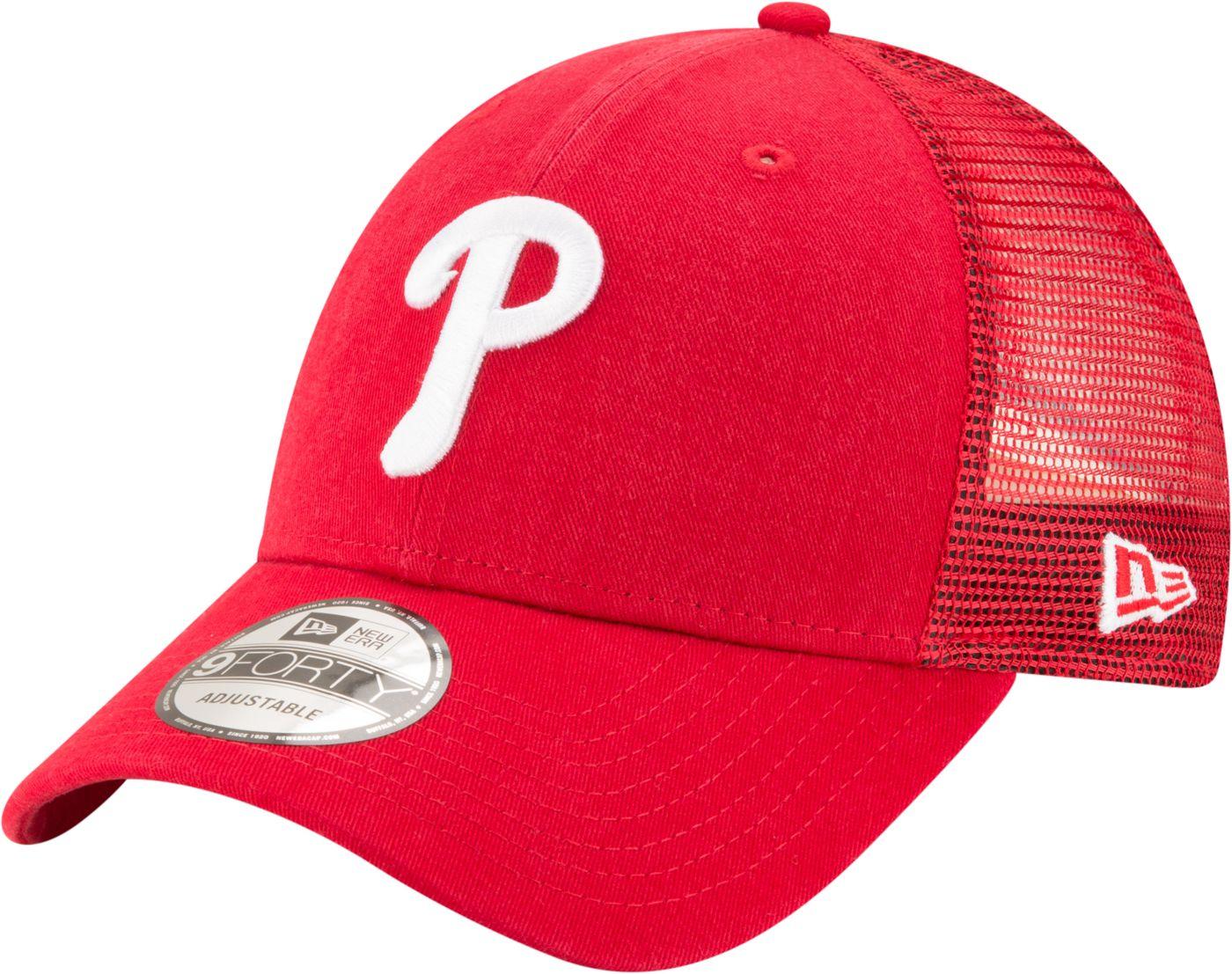 New Era Men's Philadelphia Phillies 9Forty Trucker Adjustable Hat