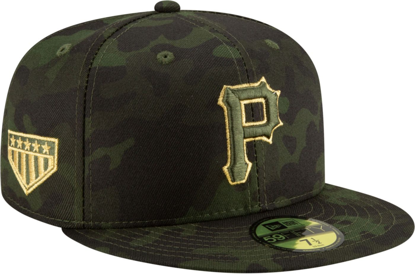 New Era Men's Pittsburgh Pirates 59Fifty Armed Forces Fitted Hat