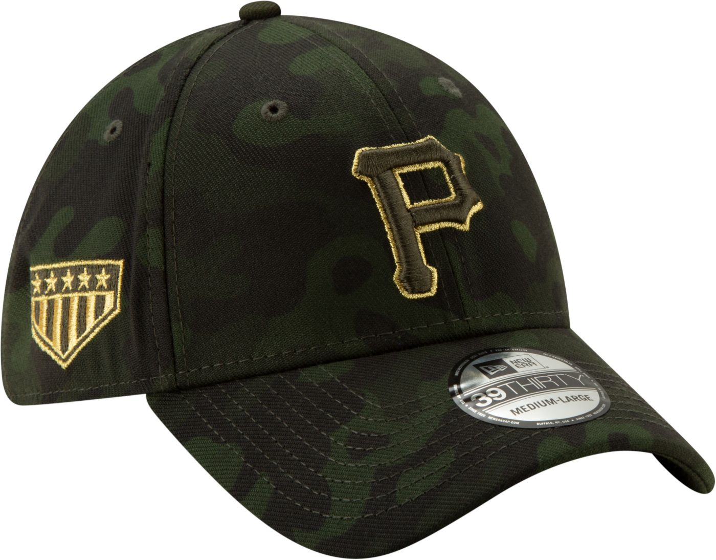 New Era Men's Pittsburgh Pirates 39Thirty Armed Forces Stretch Fit Hat