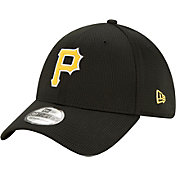 New Era Men's Pittsburgh Pirates Black 39Thirty Clubhouse Stretch Fit Hat