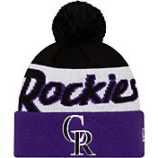 New Era Men's Colorado Rockies Script Knit Hat