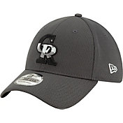 New Era Men's Colorado Rockies 39Thirty Grey Batting Practice Stretch Fit Hat