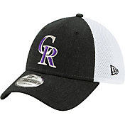 New Era Men's Colorado Rockies Black 39Thirty Heather Neo Stretch Fit Hat