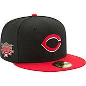 New Era Men's Cincinnati Reds 59Fifty Alternate Black Authentic Hat w/ 150th Season Patch
