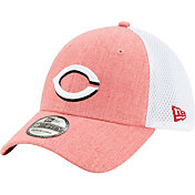 New Era Men's Cincinnati Reds Red 39Thirty Heather Neo Stretch Fit Hat