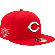 New Era Men's Cincinnati Reds 59Fifty Game Red Authentic Hat w/ 150th Season Patch
