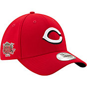 free shipping d1f84 a1e21 Product Image · New Era Men s Cincinnati Reds 39Thirty Red Stretch Fit Hat  w  150th Season Patch