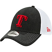 New Era Men's Texas Rangers Black 39Thirty Heather Neo Stretch Fit Hat