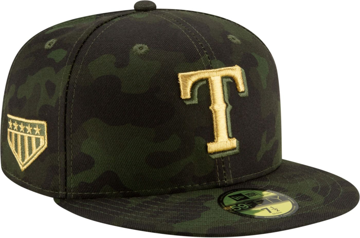 New Era Men's Texas Rangers 59Fifty Armed Forces Fitted Hat