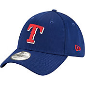 New Era Men's Texas Rangers Blue 39Thirty Clubhouse Stretch Fit Hat