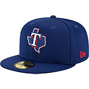 New Era Men's Texas Rangers Blue 59Fifty Clubhouse Fitted Hat