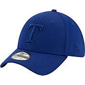 New Era Men's Texas Rangers Blue 39Thirty Perftone Stretch Fit Hat