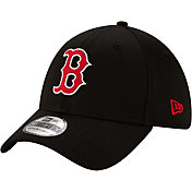 New Era Men's Boston Red Sox Black 39Thirty Clubhouse Stretch Fit Hat