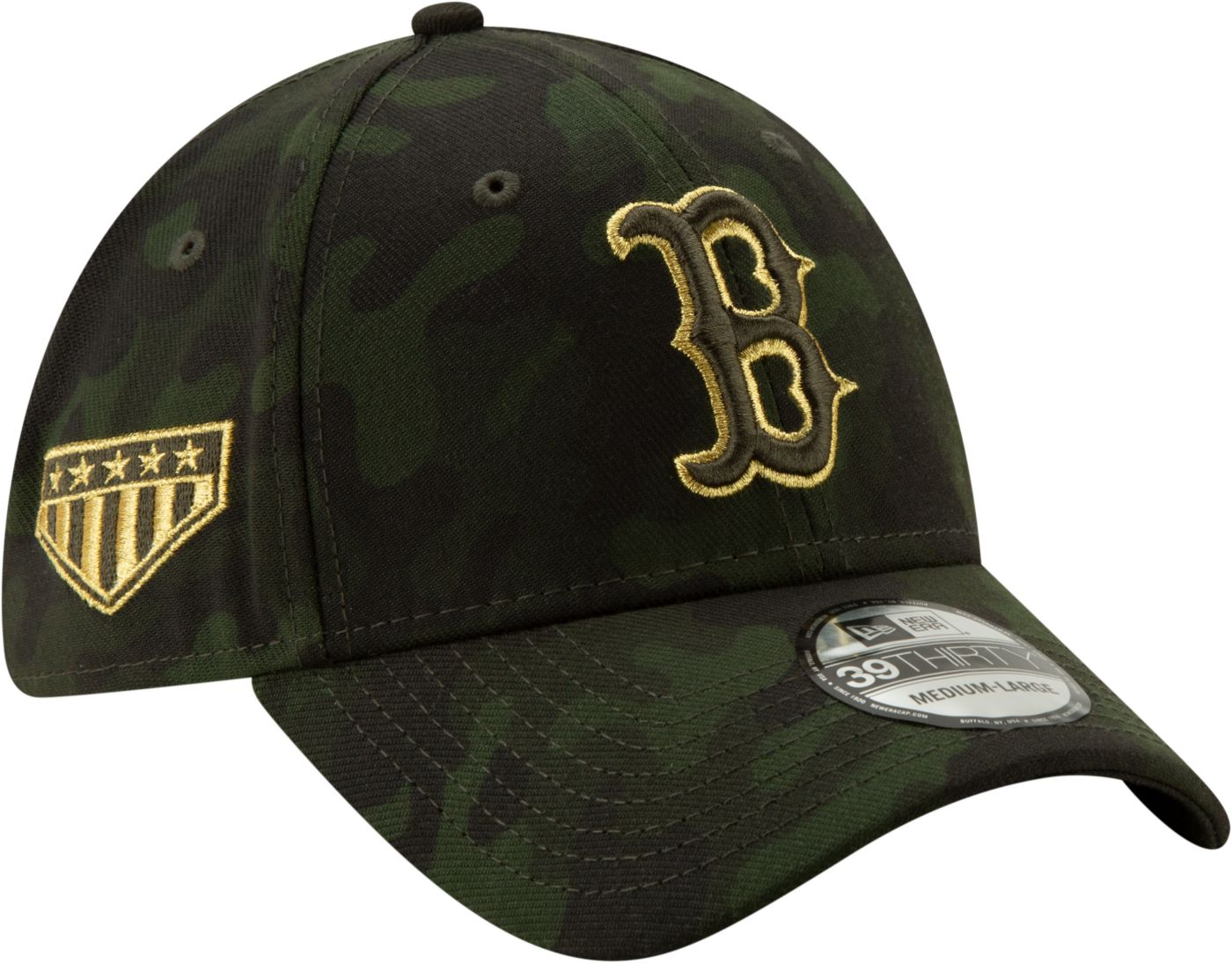 New Era Men's Boston Red Sox 39Thirty Armed Forces Stretch Fit Hat