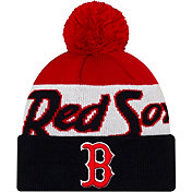 New Era Men's Boston Red Sox Script Knit Hat