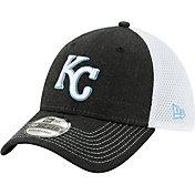 New Era Men's Kansas City Royals Black 39Thirty Heather Neo Stretch Fit Hat