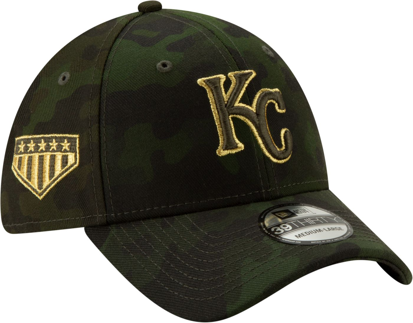 New Era Men's Kansas City Royals 39Thirty Armed Forces Stretch Fit Hat